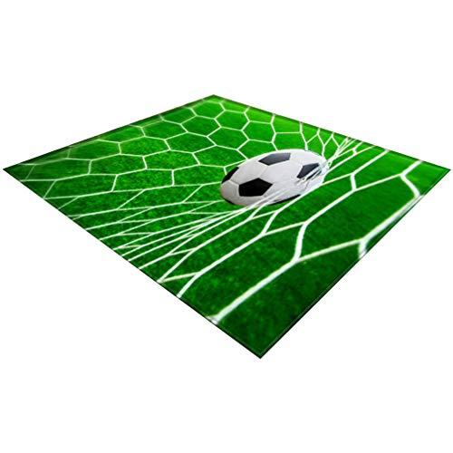 TOPBATHY Voetbal Deurmat Antislip Badmat Vloermat Toegangsdeur Mat Slaapkamer Vloermat Voordeur Gebied Tapijt Voor WK 2020 Woonkamer Slaapkamer Groen 200X150cm