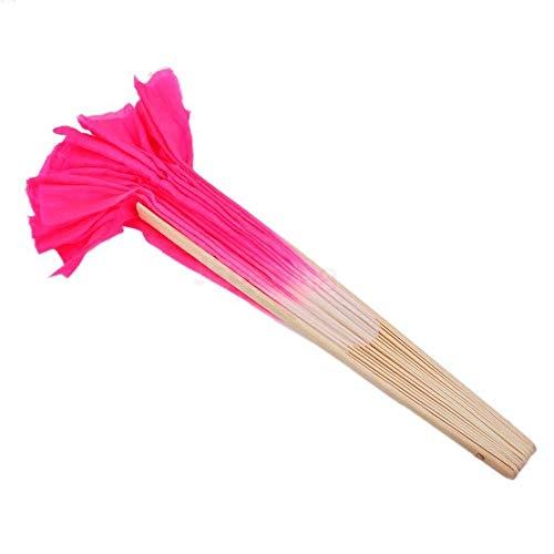 DAWEIF Chinese Art Folk Rose Silk Veil Bamboo Short Dancing Fan for Belly Dance Ornaments Home Decor 商品名称