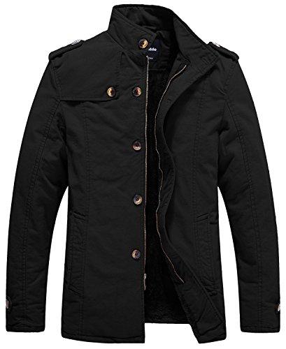 Wantdo Men's Mountain Waterproof Ski Jacket Windproof Rain Jacket Winter Coats Dark Grey S