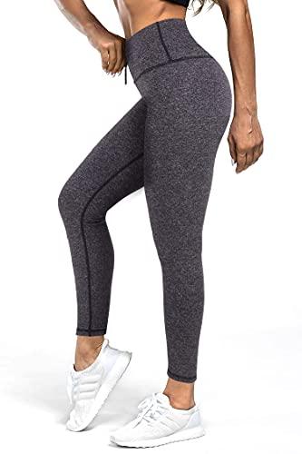 3W GRT Leggins Mujer,Mallas de Deporte de Mujer,Pantalones Petite Mujer,Pantalón Deportivo para Mujer,Cintura Alta Pantalones Deportivos para Running,Estiramiento,Yoga (Gris- con cordón, XXL)
