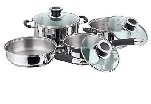 Juego de utensilios de cocina Vinod de acero inoxidable apto para inducción, juego de 4 piezas