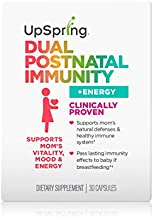 UpSpring Dual Postnatal Immunity Probiotic | Supports Immune System, Mood and Energy* | Helps Pass Immune Benefits to Baby Through Breast Milk* | Balances Gut Health | Postpartum Probiotic | 30 Ct