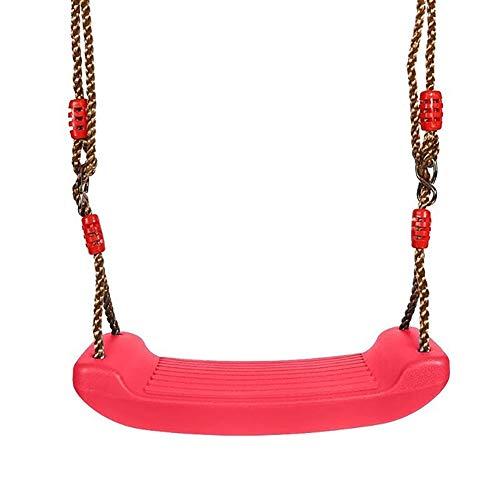 Altalena per Bambini Regolabile 1.7m a 2.3m Seduta Altalena Bambini da Giardino Esterno Casa in Plastica (Rosso)