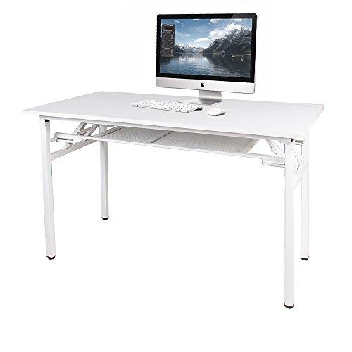 sogesfurniture Mesa Escritorio Plegable, 120x60 cm Mesa de Ordenador Escritorio de Oficina Mesa de...