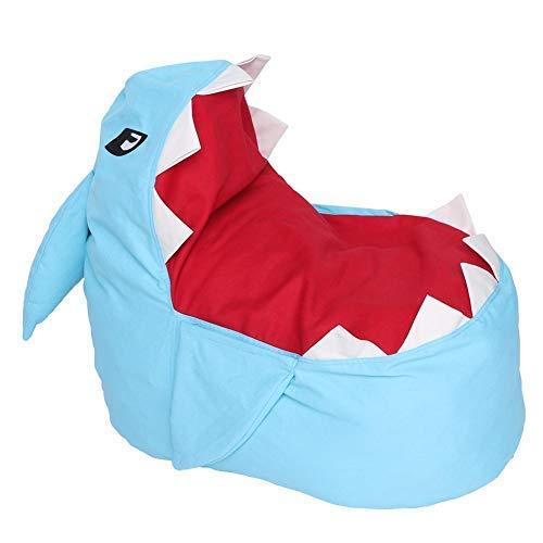 Zerodis Extra Große Sitzsack Hai Stofftier Lagerung Sitzsack Stühle Weichem Plüschtier Organizer Flauschigen Liege Sofa für Kinder Erwachsene Sitzen und Schlafen (Blau)