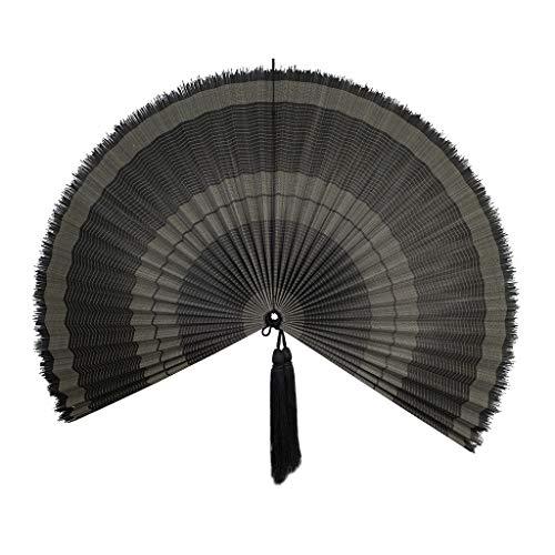 Made Terra - Abanico de bambú extra grande para colgar en la pared, estilo rústico Boho tejido, decoración para la pared | Hermoso arte de pared para apartamentos o dormitorios
