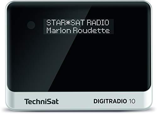 TechniSat DIGITRADIO 10 - DAB+ Digitalradio Adapter (OLED-Display, Bluetooth, Fernbedienung, Wecker, optimal zur Aufrüstung bestehender HiFi-Anlagen) schwarz/silber