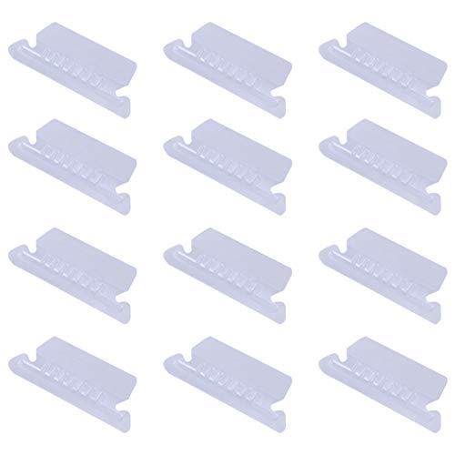 Stobok - Lote de 100 pestañas de respaldo colgantes de 8 x 3 cm, pestañas de respaldo para insertar clips de PVC transparentes para organizar y distinguir los archivos colgados, clip de nota, fácil de