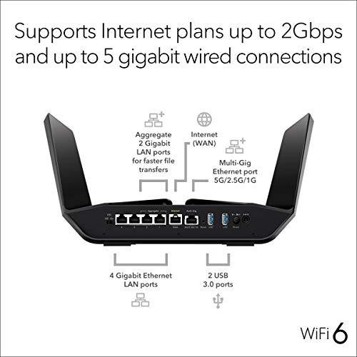 NETGEAR Nighthawk AX12 Router Wifi 6 de 12 velocidades (RAX120) AX   Wi-Fi 6 - Versión US