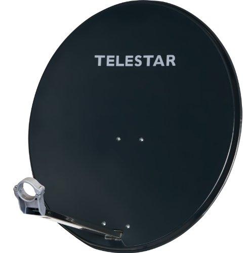 Telestar Digirapid 80 SAT-Spiegel (80 cm Aluminium-Spiegel, vormontierte Masthalterung, 40mm LNB-Halterung) schiefergrau