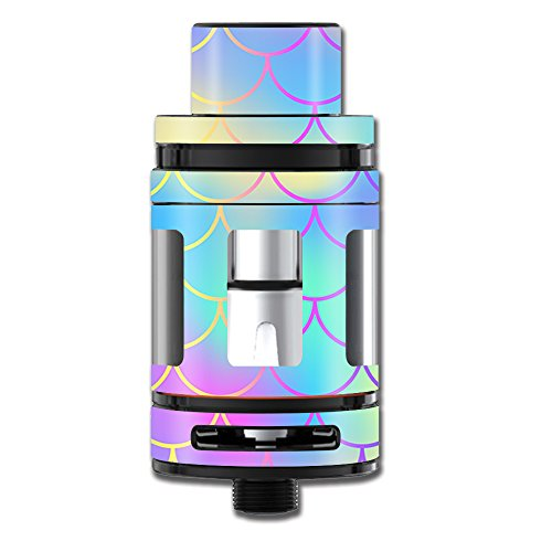 Skin Decal Vinyl Wrap for Smok TFV8 Big Baby Beast Tank Vape Stickers Skins Cover/Pastel Colorful Mermaid Scales
