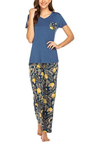 Hotouch Pajama Set for Women - Modal Jersey Pajamas Women M