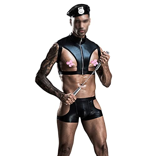 YHKJ Mens Underwear Sissy Lingerie Men Only Role-Playing Suit Suitable for Nightclubs Bars and Other Places,Black,L