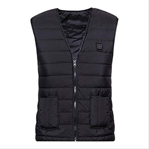 Mannen Vrouwen Outdoor Usb Infrarood Verwarming Vest Flexibele Elektrische Thermische Winter Warm Jas Kleding XL Zwart