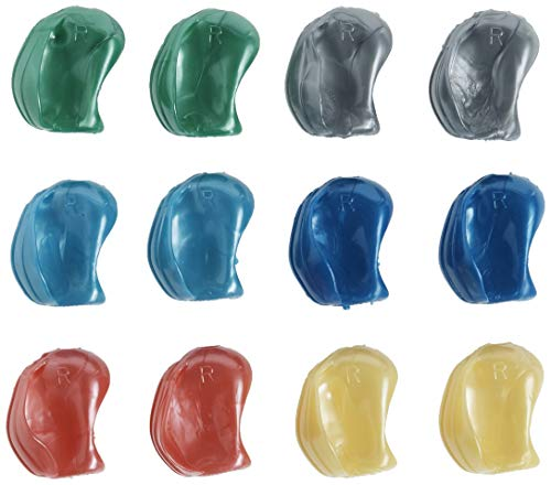 The Pencil Grip Crossover Grip Metallic Ergonomic Writing Aid for Righties and Lefties, 12 Count Assorted Colors (TPG-17712)