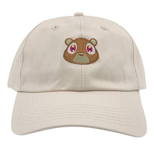 SYWHPS Bear Hat Dad Hat Strap Back Costume Head Men Women New (Tan)