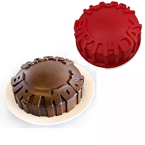 FantasyDay 8'' Happy Birthday Cake Mold Silicone Baking Molds for Your Dessert, Cookie, Donut, Bread, Loaf, Muffin, Brownie, Cornbread, Cheesecake and More #6