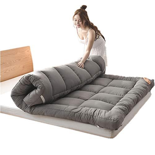 JJKB Doppel-einzelboden Matratze Japanisch,studentenwohnheim Falt-matratze,futon Bodenmatratze,weiche Und Atmungsaktive Tatami Falten Futon Dicke 5cm-a 150x200cm(59x79inch)
