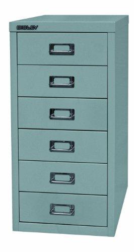 BISLEY Schubladenschrank 29 aus Metall mit 6 Schubladen | Schrank für Büro, Werkstatt und Zuhause | Stahlschrank in 11 Farben (Silber)