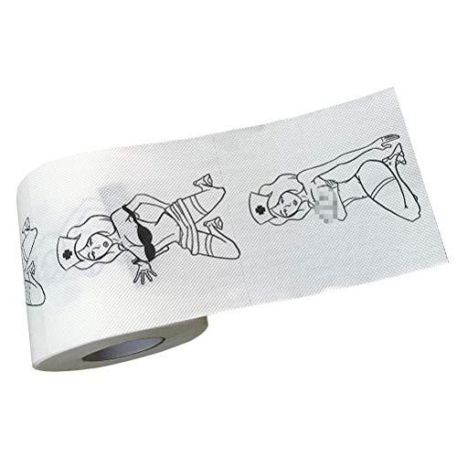NEWMAN771Her Kreatives bedrucktes Rollenpapier Weiches Toilettenpapier Handtuch Sexy Muster Taschentücher