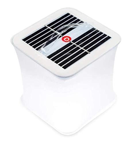 Youpin Faroles inflables solares | Ideal para camping, kits de emergencia de huracanes y viajes | como se ve en el tanque de tiburón (color: blanco, color emisor: blanco)