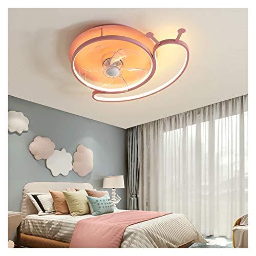 Ventiladores para el Techo con Lámpara 24' Ventilador de techo con luz, invisible techo Caracoles de dibujos animados aspas del ventilador, control remoto, utilizado en la sala de estar, dormitorio fo