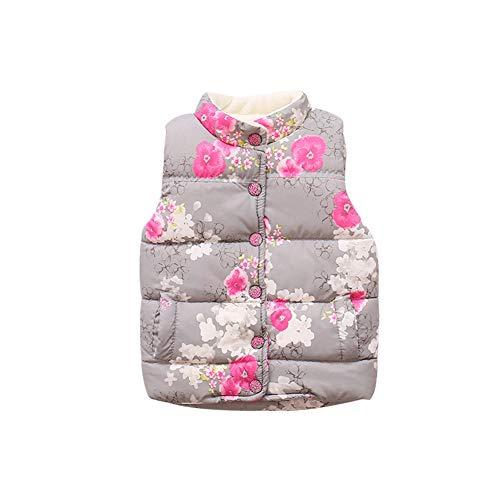 Brightup Brightup Mädchen Herbst Winter Warm Gilets, Kleine Mädchen Weste Mantel, Kinder Weste Jacken