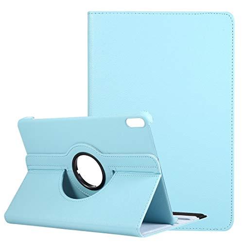 PROTECTIVECOVER+ / for Compatible with HUAWEI Matepad 10.4 Litchi Texture Horizontal Flip 360 grados Rotación Caja de cuero con soporte , Fashion Phone Funda Para Protector ( Color : Light Blue )
