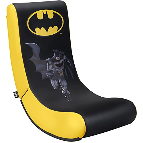 Subsonic - Batman - Silla De Juego Gaming Rock'N'Seat Junior - Asiento Gamer Para Habitación De Niños Y Adolescentes Con Licencia Oficial (PlayStation 5)