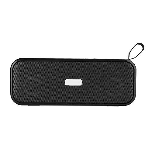 wendeekun Altavoz Bluetooth, Altavoz Bluetooth portátil Inalámbrico Mini Subwoofer para el hogar Estéreo con Luces de Colores, con un Cable Auxiliar de 3,5 mm(Negro)