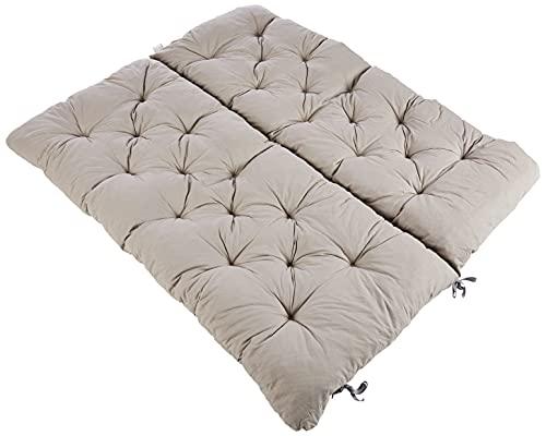 Ambientehome 90266 - Cuscino per panca a 2 posti e per Panca Hanko, grigio chiaro, approx. 120 x 98...