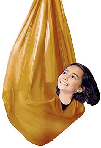 Kcanamgal Juego de hamacas de Yoga aéreo para Yoga,de Ancho Hamaca de Nylon Gimnasio Anti Gravedad Balanceo de Aire Vuelo con Carga,D,100x280cm
