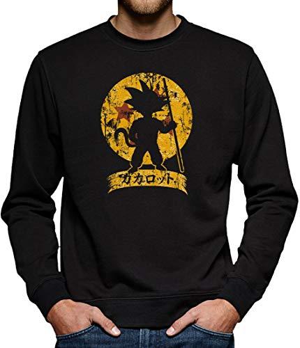 Super Son Goku Sweatshirt Pullover Herren XXXL Schwarz