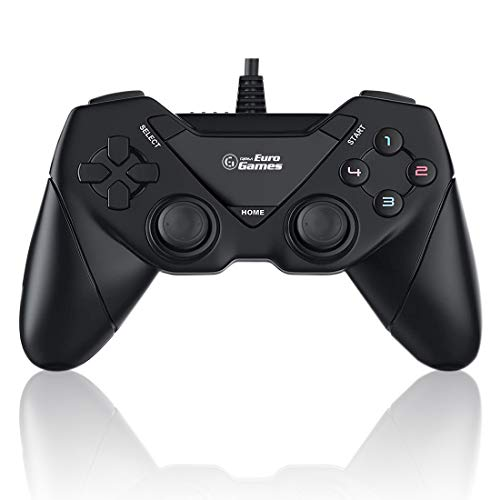 RPM Euro Games Laptop/PC Controller Wired for Windows - 7, 8, 8.1, 10 and XP, Ps3