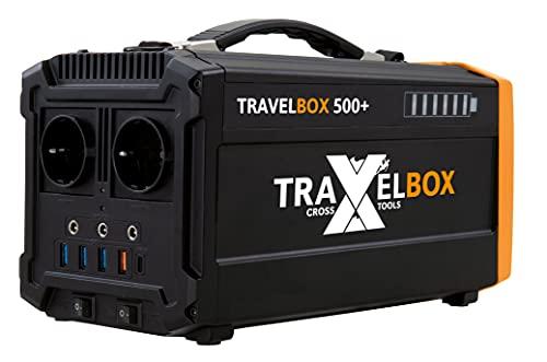 Cross TOOLS TRAVELBOX 500+, 500 W Powerstation, mobiler Stromgenerator, ideal für Festivals, Camping, Outdoor & Notstromversorgung, 19 x 29 x 15,5 cm