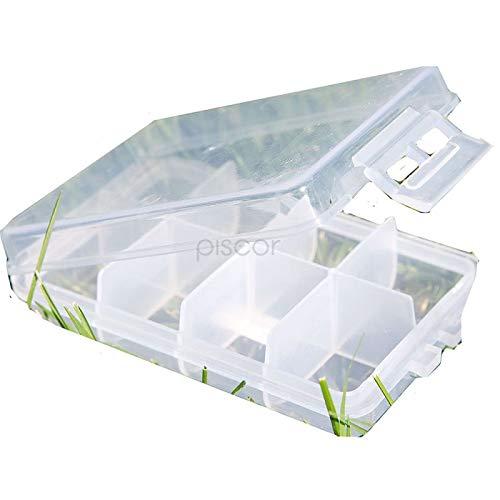Lineaeffe Boîte Poly 1 10.5 x 6.5 x 2.5 cm Boîte de Pêche Rangement Accessoire Leurre Hameçon Compartiment Plastique