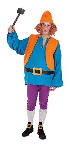 Creaciones Llopis - Disfraz de enanito para adulto de 11/13 años, color azul, talla L