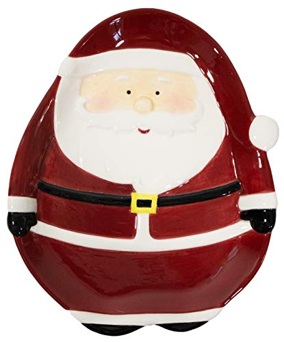 'Santa' Christmas Themed Winter Holiday 8' Ceramic Accent Plate