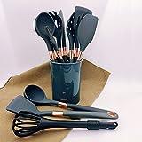 11-piece silicone cookware set, heat-resistant kitchen utensils, non-stick cookware, cooking kitchen gadgets