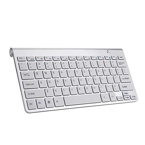 LEAMER Ratón inalámbrico y teclado conjunto 2.4g mini teclado 78 teclas multimedia compacto para ordenador portátil/pc/computadora/escritorio