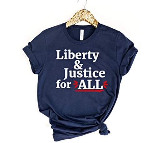 Liberty and Justice for All Tshirt | Womens Patriotic Shirts | Fourth of July Mommy and Me