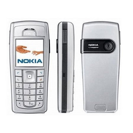 ORIGINAL NOKIA 6230i/6230 SCHALE COVER+TASTATUR SILBER E-Marketing