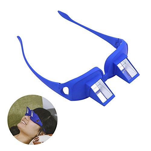 Tera® Gafas de Prisma Visión Horizontal para Relajamiento Gafas de Periscopio para Lectura de Libro y Televisión para la Cama (Azul)