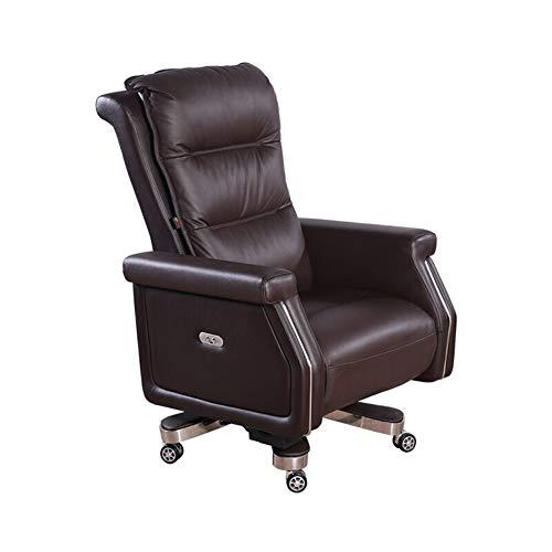 NQN Silla de oficina ergonómica para ordenador, silla de oficina, silla de oficina, silla de oficina eléctrica, Smart Rest con luz, manual de reclinar, Material:, a, talla