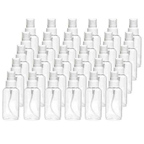 WAMZD Botella de Spray de 30 ml Botella de Spray Transparente Botella de plástico vacía Recargable Botella de Viaje