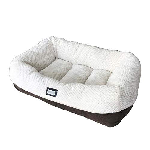 Cómodo Cama del animal doméstico, cama del animal doméstico auto-calentamiento for Cat Medio perro de peluche del rectángulo Nido dormir del perrito del bolso del amortiguador Suministros cuatro estac