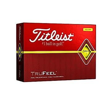 Titleist TruFeel Golf Balls Yellow  One Dozen