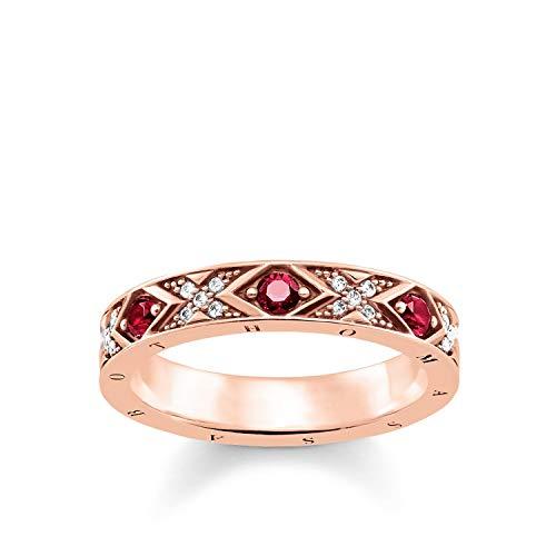 THOMAS SABO Damen Ring asiatische Ornamente 925er Sterlingsilber; 750er Roségold Vergoldung TR2163-626-10