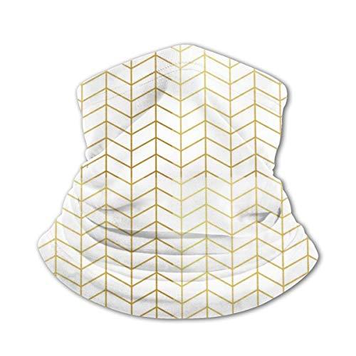 Fedso - Pasamontañas con diseño de espiga, color dorado y blanco