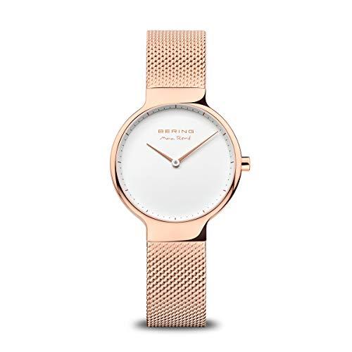BERING Reloj Analógico para Mujer de Cuarzo con Correa en Acero Inoxidable 15531-364
